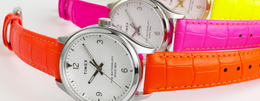 The Timex Waterbury Goes Neon for Summer