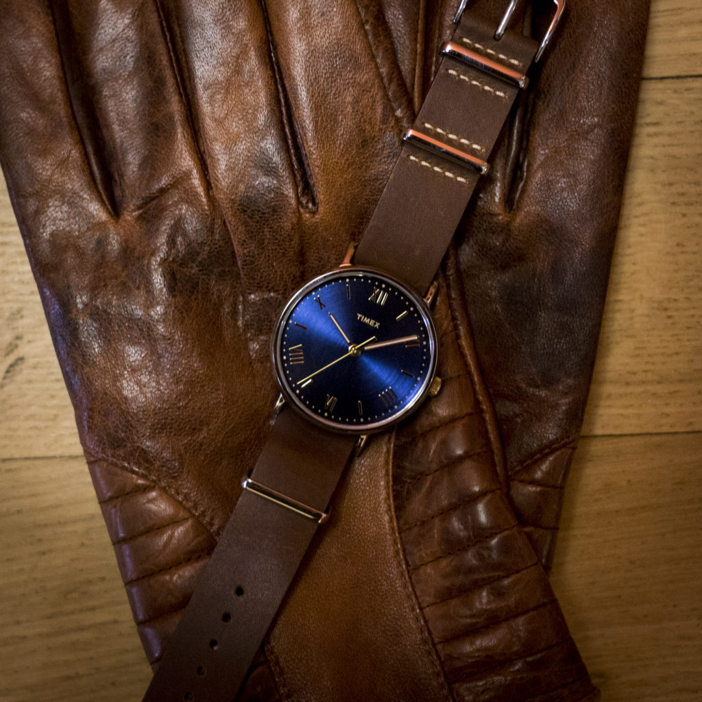 timex leather watch strap