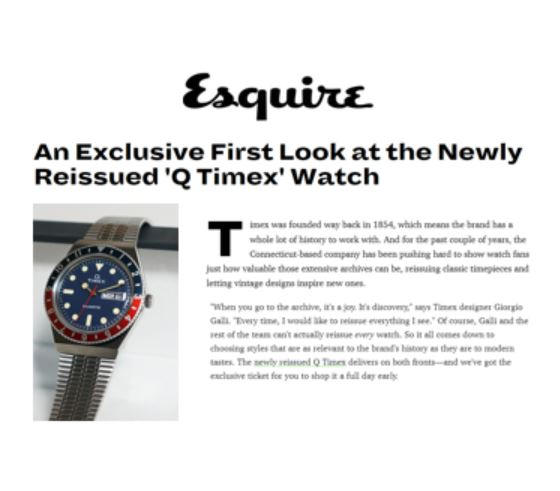 q timex reissue esquire coverage