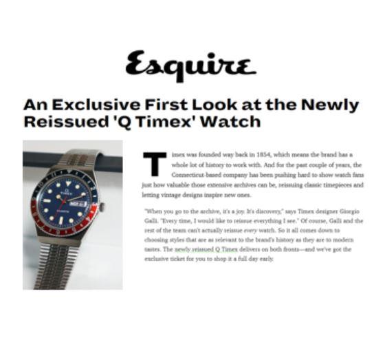 q timex reissue esquire coverage