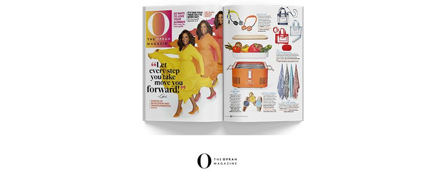 Oprah Magazine: 'Let Every Step You Take Move You FORWARD!'